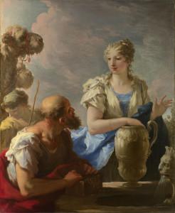 Rebecca at the Well by Giovanni Antonio Pellegrini