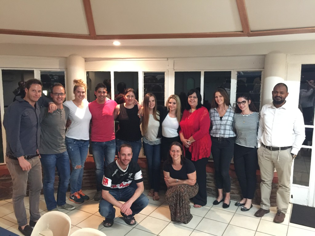 Bet David ITJ class and partners at the 'End of Year' session on November 2015. L-R: David Seinker, Marc Abraham, Genevieve Edwards, Roger Colaco, Yola Tome, Gill Read, Kimberley Craul, Adri Powell, Jacqui Upton, Rabbi Julia Margolis, Nhlanhla Sibeko, (front) Anthony Hanauer and Claire Lewis.
