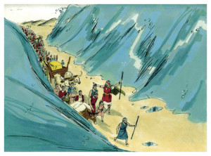 The Water Was Divided (1984 illustration by Jim Padgett)